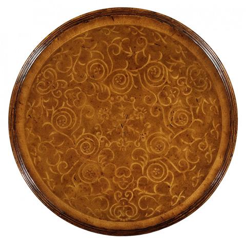 Jonathan Charles - Seaweed Two-Tier Round Lamp Table - 493736