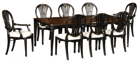 Jonathan Charles - Rub-Through Dining Table - 493767