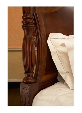 Jonathan Charles - Mahogany King Four Post Bed - 493801