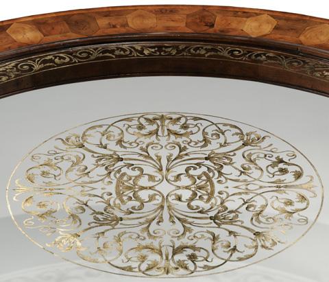 Jonathan Charles - Circular Oyster and Eglomise Coffee Table - 493849