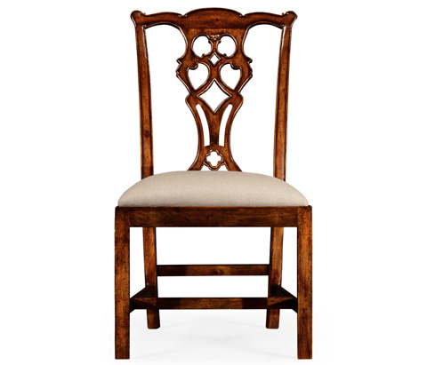 Jonathan Charles - Chippendale Style Classic Walnut Chair - 493875