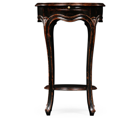 Jonathan Charles - French Small Round Lamp Table in Black - 493954