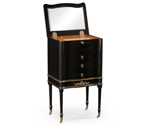 Jonathan Charles - Black Painted Chest Or Collectors Cabinet on Stand - 494074