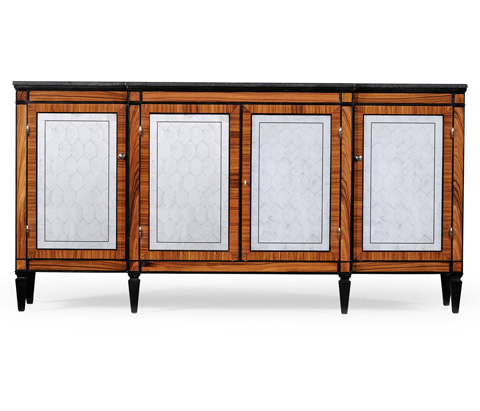 Jonathan Charles - Rosewood Marble Topped Breakfront Cabinet - 494184