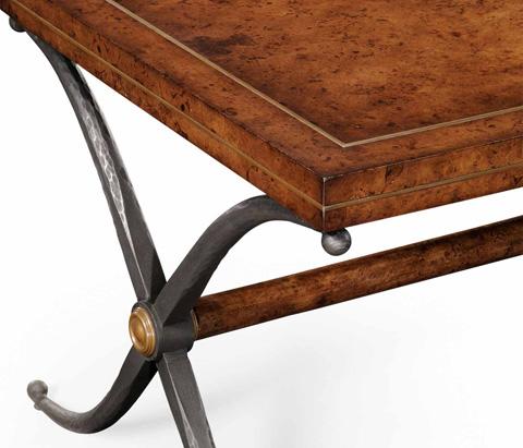 Jonathan Charles - Hammered Iron Rectangle Coffee Table - 494203
