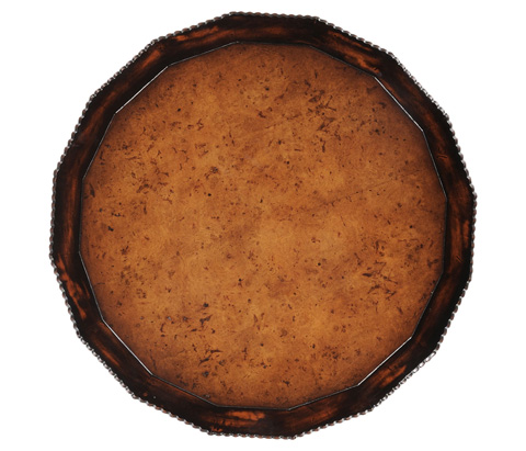 Jonathan Charles - Gadrooned Burl Topped Side Table - 494222