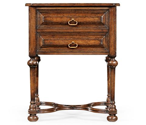 Jonathan Charles - Tudorbethan Dark Oak Side Table - 494227