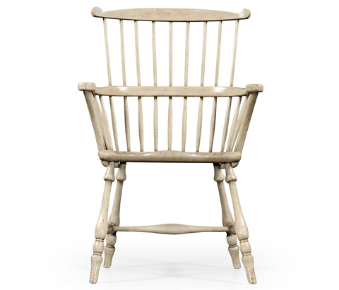Jonathan Charles - Grey Painted Windsor Arm Chair - 494233