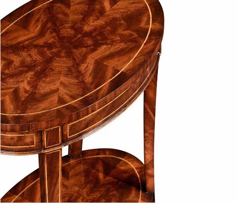 Jonathan Charles - Mahogany Oval Lamp Table - 494288