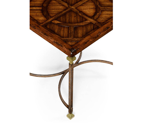 Jonathan Charles - Parquetry and Iron Side Table - 494318