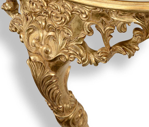Jonathan Charles - Carved and Gilded Bracket Console - 494354