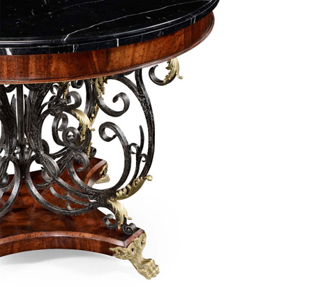 Jonathan Charles - Baroque Wrought Iron and Brass Centre Table - 494360