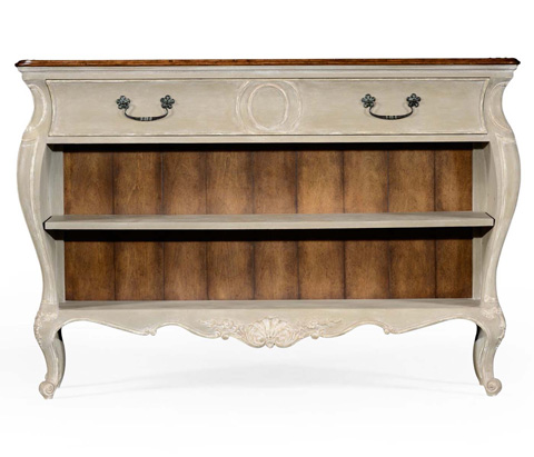 Jonathan Charles - French Provincial Grey Painted Open Bookcase - 494398