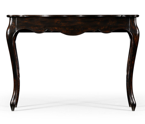 Jonathan Charles - French Style Black Finish Console Parquet Top - 494486