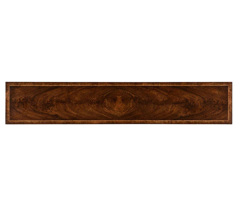 Jonathan Charles - Dark Crotch Walnut Narrow Console - 494599