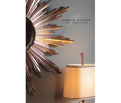 Jonathan Charles - Small Silver Sunburst Mirror - 494613