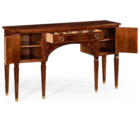 Jonathan Charles - Regency Mahogany Bow Fronted Sideboard - 494645