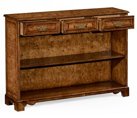 Jonathan Charles - George II Style Burl Oak Bookcase with Drawers - 494663