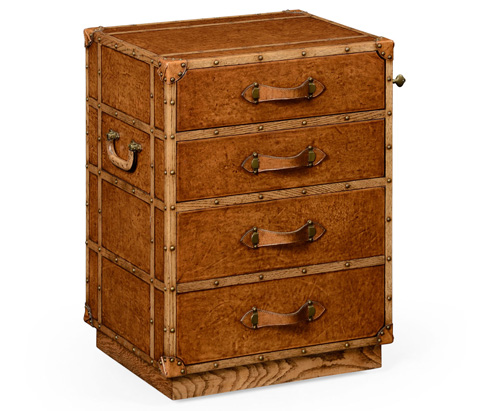 Jonathan Charles - Travel Trunk Style Wellington Filing Chest - 494683
