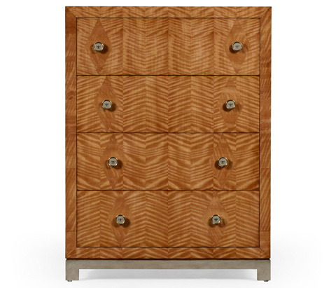 Jonathan Charles - Herringbone Argyle Blazer Chest of Four Drawers - 494784