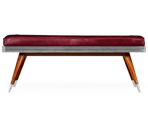 Jonathan Charles - 50's Americana Leather Bench - 494857