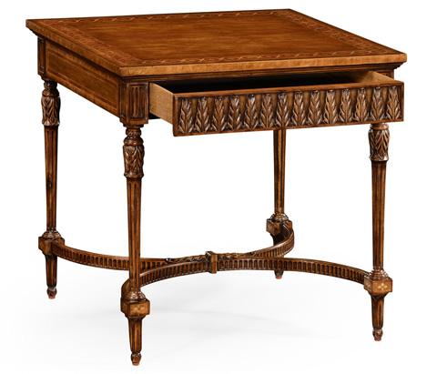 Jonathan Charles - Napoleon III Style Side Table with Fine Inlay - 494913