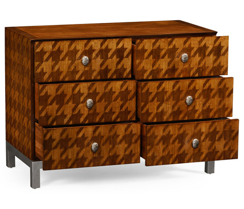 Jonathan Charles - Houndstooth Chest of Drawers - 494929