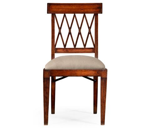 Jonathan Charles - Regency Style Lattice Back Dining Side Chair - 494949