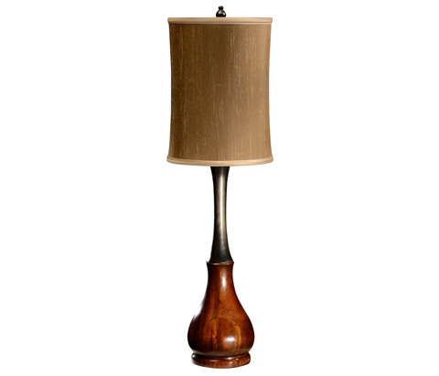Jonathan Charles - Mahogany And Ebonised Table Lamp - 494964