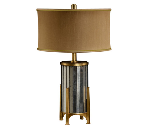 Jonathan Charles - Eglomise And Gilt Metal Table Lamp - 494990