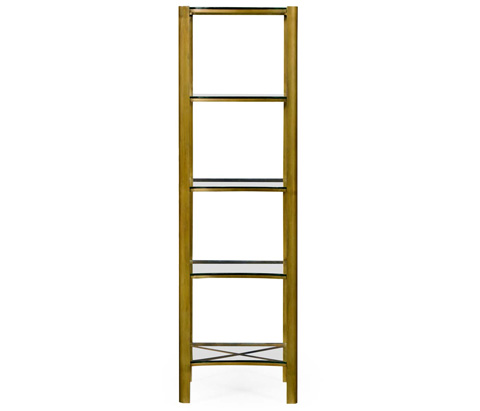 Jonathan Charles - Modernist Brass Five Tier Etagere - 495012