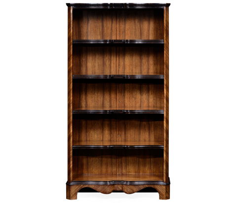 Jonathan Charles - Argentinian Walnut Tall Open Bookcase - 495019