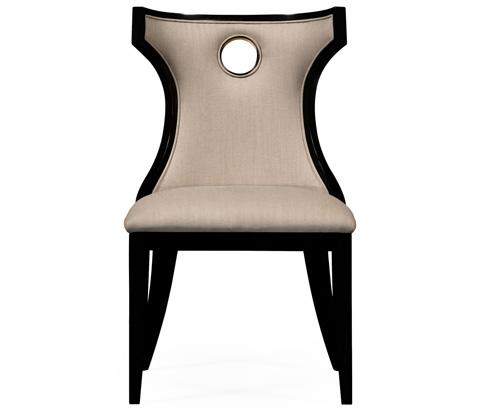 Jonathan Charles - Greek Revival Biedermeier Black Side Chair - 495046-BLA-SC
