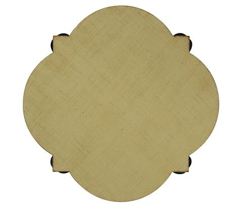 Jonathan Charles - Black Twisted Side Table with Celadon Top - 495093-BLA