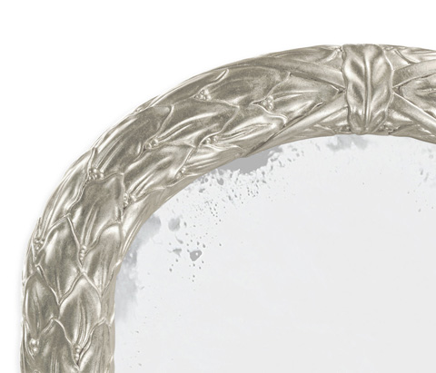 Jonathan Charles - Silver Leaf Narrow Floor Standing Mirror - 495147-SIL