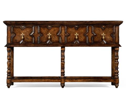 Jonathan Charles - Tudor Style Dark Oak Buffet - 492988