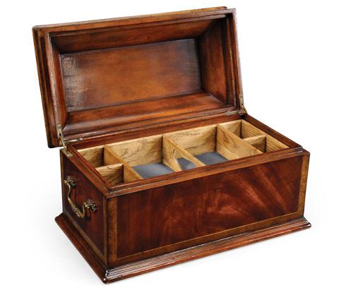 Jonathan Charles - Crotch Mahogany Coffer Box - 493002