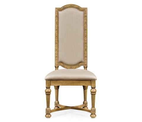Jonathan Charles - Jacobean Style Natural Oak Side Chair - 493235-L