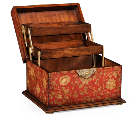 Jonathan Charles - Chinoiserie Lidded Jewellery Box - 493986