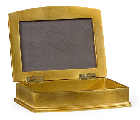 Jonathan Charles - Anthracite Faux Shagreen Gilded Box - 494115-G