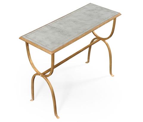Jonathan Charles - Gilded Iron Horseshoe Console Table - 494155-G
