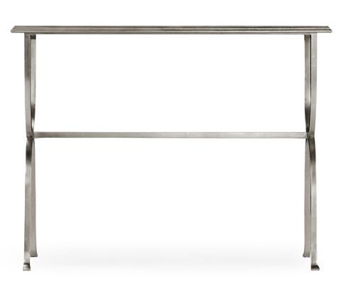 Jonathan Charles - Silver Iron Horseshoe Console Table - 494155-S