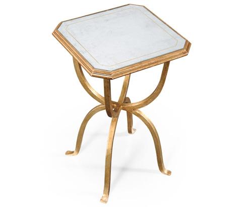 Jonathan Charles - Gilded Iron Octagonal Side Table - 494196-G