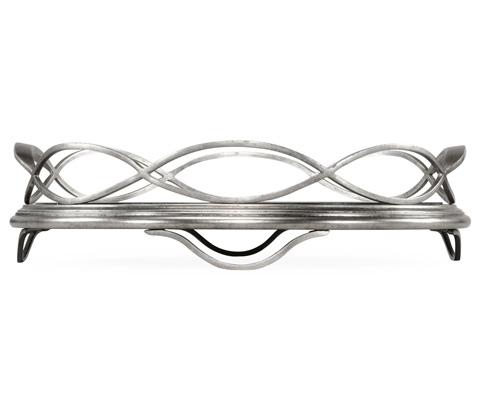 Jonathan Charles - Silver Circular Tray - 494249-S