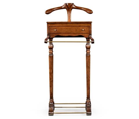 Jonathan Charles - Regency Style Walnut Valet Stand - 494297