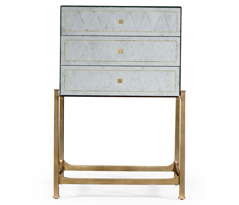 Jonathan Charles - Gilded Iron Small Chest Of Drawers - 494379-G