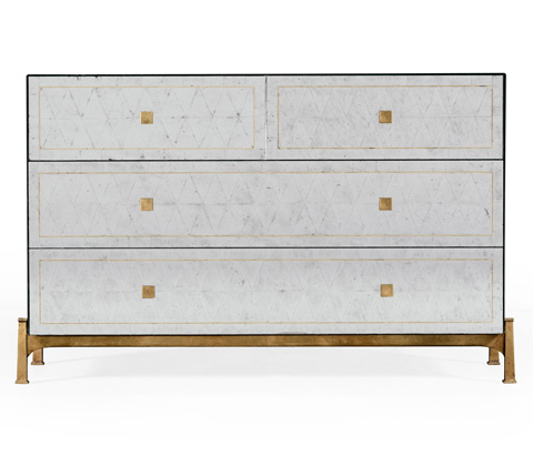 Jonathan Charles - Gilded Iron Large Chest Of Drawers - 494381-G