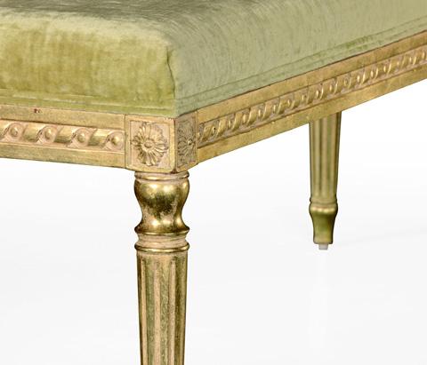 Jonathan Charles - Louis XV Style Ottoman - 494455