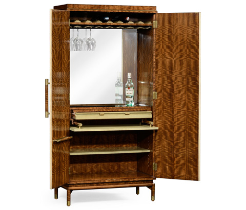 Jonathan Charles - Hyedua and Ivory Finish Tall Drinks Cabinet - 494919-CO1