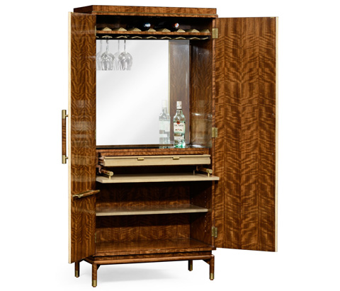 Jonathan Charles - Hyedua and Celadon Finish Tall Drinks Cabinet - 494919-CO2